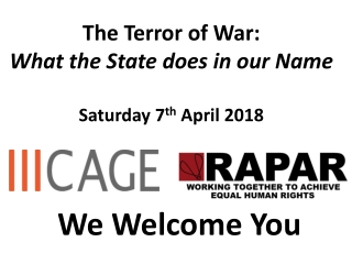 Become part of the war on the terror