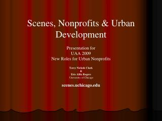 Nonprofits in Cities