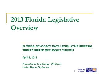 2013 Florida Legislative Overview