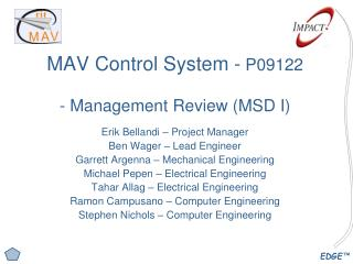 MAV Control System -  P09122 - Management Review (MSD I)