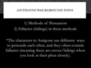 Antigone  Background INFO