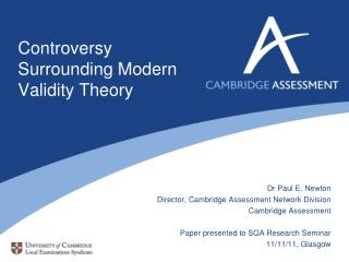 Controversy Surrounding Modern Validity Theory