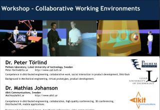 Workshop - Collaborative Working Environments