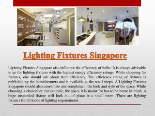 Designer Lighting Singapore