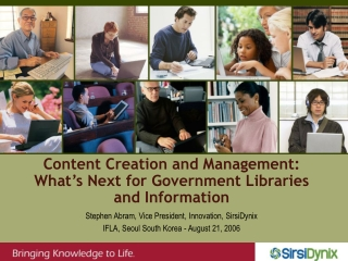 Content Creation and Management: What's Next for Government Libraries and Information