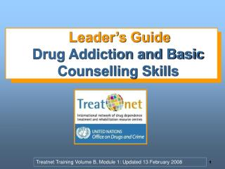 Leader's Guide Drug Addiction and Basic Counselling Skills