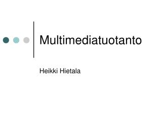 Multimediatuotanto