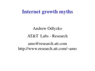 Internet growth myths