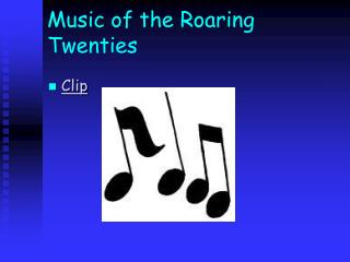 Music of the Roaring Twenties