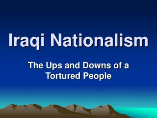 Iraqi Nationalism
