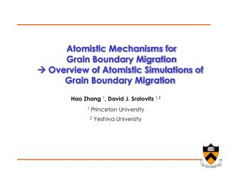 Atomistic Mechanisms for  Grain Boundary Migration