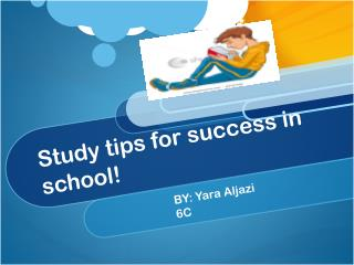 Study tips for success in school!
