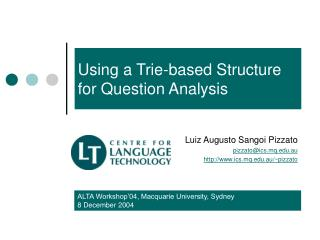 Using a Trie-based Structure for Question Analysis