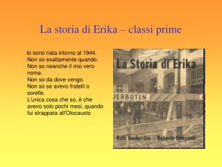 La storia di Erika – classi prime
