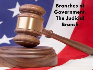 Branches of Government: The Judicial Branch