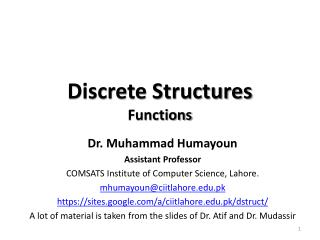 Discrete Structures Functions