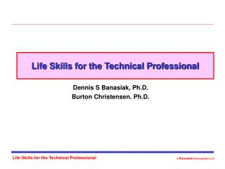 Life Skills for the Technical Professional