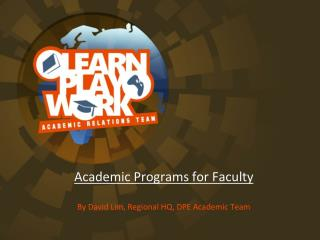 Academic Programs for Faculty