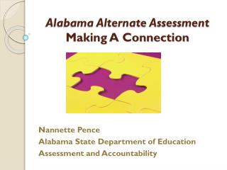 Alabama Alternate Assessment Making A Connection