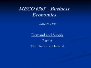 MECO 6303 – Business Economics