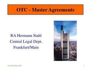 OTC - Master Agreements