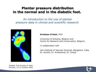 Plantar pressure distribution in the normal and in the diabetic foot.