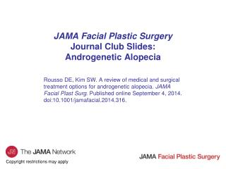 JAMA Facial Plastic Surgery Journal Club Slides: Androgenetic  Alopecia