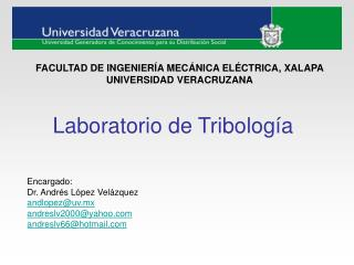 Laboratorio de Tribología