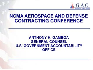 NCMA AEROSPACE AND DEFENSE CONTRACTING CONFERENCE