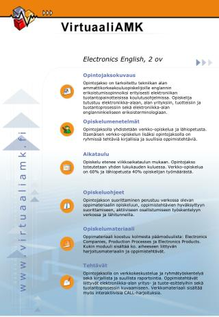 Electronics English, 2 ov