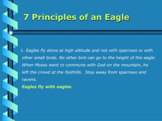 7 Principles of an Eagle
