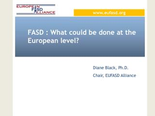 FASD : What could be done at the European level?