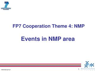 FP7 Cooperation Theme 4: NMP