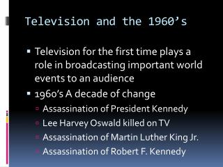 Television and the 1960's