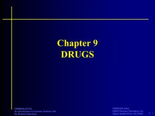 Chapter 9 DRUGS