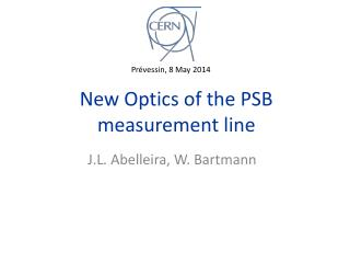 New Optics of the PSB measurement line