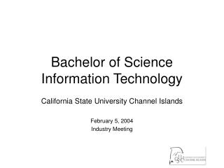 Bachelor of Science Information Technology