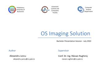 OS Imaging Solution