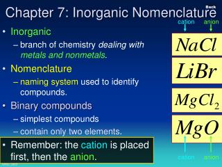 Chapter 7: Inorganic Nomenclature