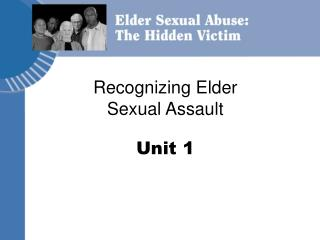 Recognizing Elder Sexual Assault