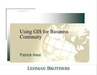 Using GIS for Business Continuity