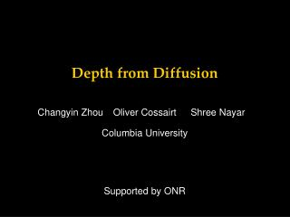 Depth from Diffusion