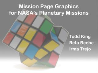 Mission Page Graphics for NASA's Planetary Missions