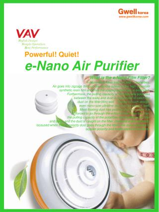 Powerful! Quiet! e-Nano Air Purifier