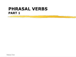 PHRASAL VERBS PART 1