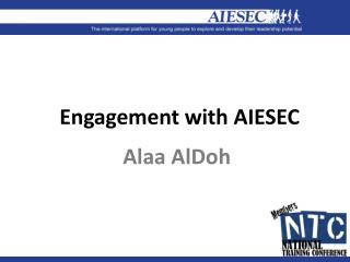 Engagement with AIESEC