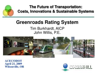 The Future of Transportation:  Costs, Innovations & Sustainable Systems