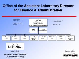 Office of the Assistant Laboratory Director  for Finance & Administration