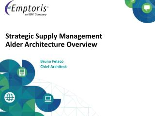 Strategic Supply Management  Alder Architecture Overview