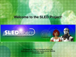 Welcome to the SLED Project!